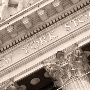New York Stock Exchange building at Wall Street